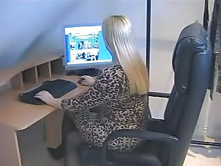 Blonde MILF Office Pantyhose Pornstar Secretary