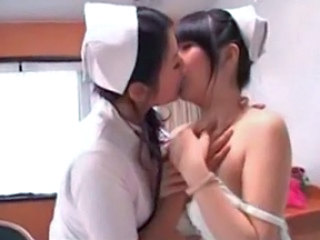Asian Kissing Lesbian MILF Nurse Pornstar Uniform Young