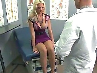 Sick big tit blond has her pussy fingered by a doctor