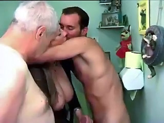 Big Tits French Handjob Kissing Mature Older Threesome