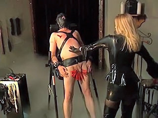 Helpless Slave Gets Trained by...