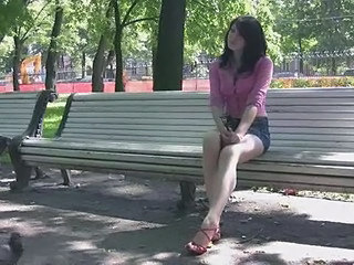 Amateur Brunette Cute Outdoor Skirt Teen