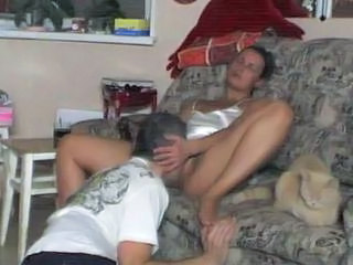 Amateur Brunette Daddy Family Licking
