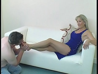 Blonde Feet Fetish Mature