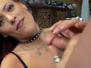 Milf doing handjob then being...