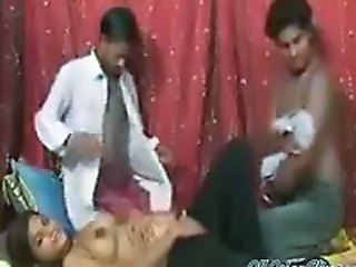 Amateur Cumshot Indian Teen Threesome