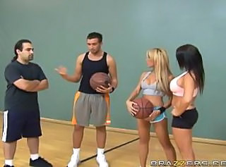 Horny Basketball Blonde In Hardcore Scene