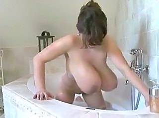 Amazing Bathroom Big Tits Bus MILF