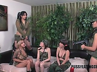 Hot orgy with sexy Asian sluts