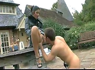 British Clothed Licking Outdoor Young