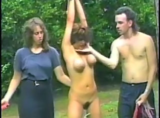 Big Tit Girl Whipped Outside _: bdsm big boobs