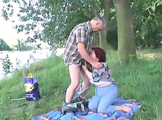 Amateur Beach Blowjob Clothed Mature Outdoor Redhead