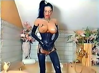 Amazing Big Tits Corset Fetish Latex MILF Piercing