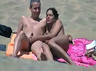 Amateur Beach Handjob  Outdoor Voyeur Wife