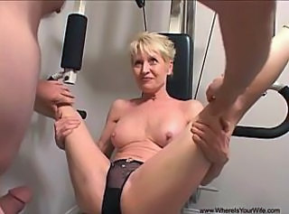 Anal Blonde Mature Panty Sport