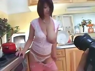 Asian Big Tits Kitchen Mature