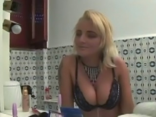 Big Tits Blonde Italian Kitchen Lingerie MILF Pornstar
