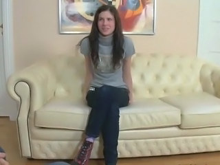 Amateur Brunette Casting Teen