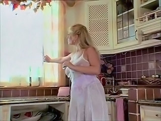 Big Tits Blonde Kitchen MILF
