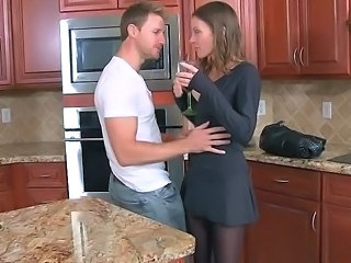 Drunk Kitchen MILF Pantyhose