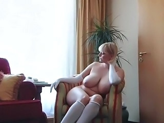 Big Tits Blonde MILF Russian