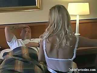 Dutch Maid Fucks Hotel Room Guest!