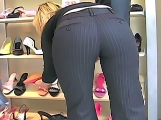 Candid Ass in Pants 01 (+slow motion)
