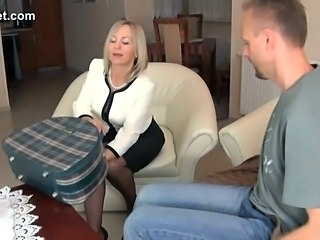 Blonde Pieds MILF Collants