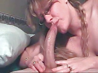 Big cock Blowjob Deepthroat Glasses MILF