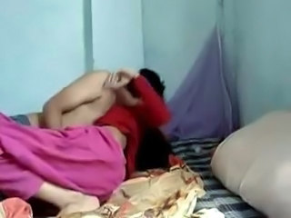Homemade Indian Kissing Wife