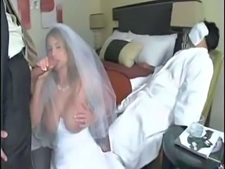 Big Tits Blowjob Bride Man MILF Threesome