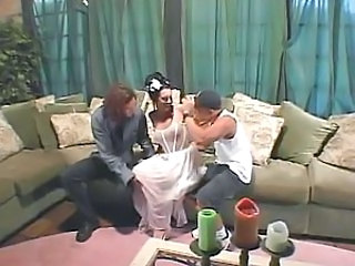 Big Tits Bride Brunette Hardcore MILF Threesome