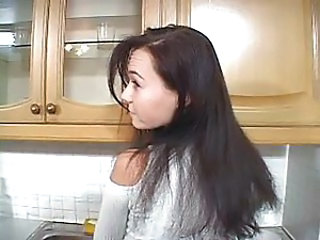 Amateur Brunette Hardcore Kitchen Teen