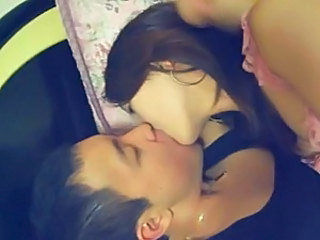 Amateur Asian Girlfriend Kissing Teen