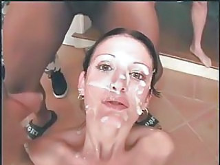 Brunette Bukkake Facial Cute