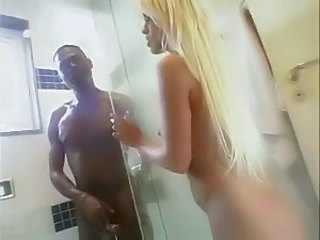 Babe Blonde Interracial Long hair Pornstar Showers