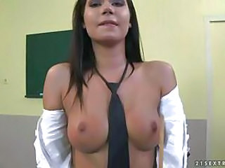 Brunette Cute School Small Tits Student