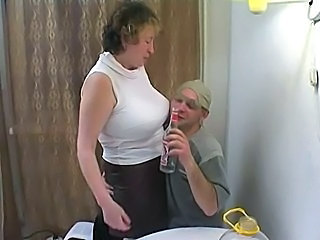 Big boobs mom fucked by drunk son