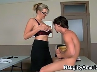 Big Tits Glasses Lingerie MILF School Teacher