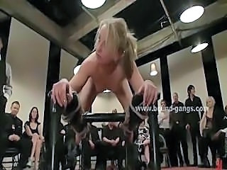 Brunette surprised at interview with extreme gang bang fuck by nasty wild sex...