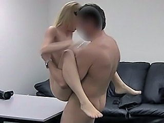 Blonde Casting Facial Hardcore Teen