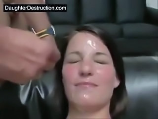 Amateur Brunette Facial Cute Young