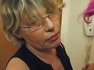 Amateur Blonde European French Glasses Hardcore Mature