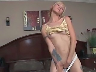 Blonde Masturbating Small Tits Squirt Tattoo