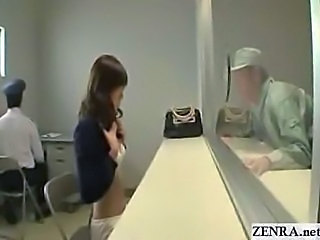 Japanese girl strips nude in prisoner visiting room