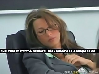 Brunette Glasses MILF Pornstar Teacher