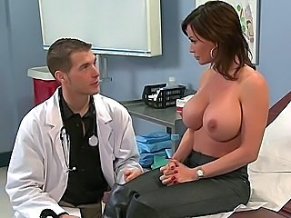 Babe Big Tits Brunette Doctor Pornstar Uniform