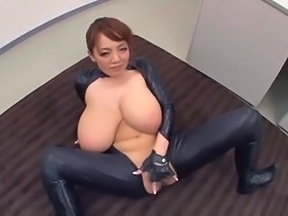 Big Tits Japanese Latex Masturbating Mature