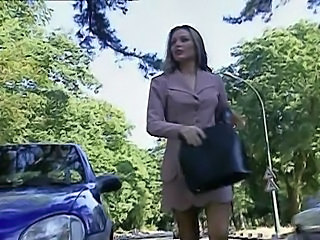 French MILF Outdoor Pornstar