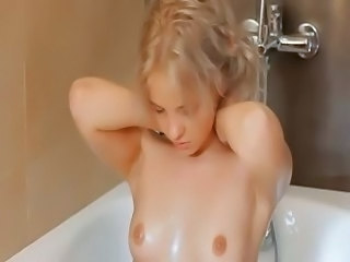 Bathroom Blonde Cute Erotic Masturbating Small Tits